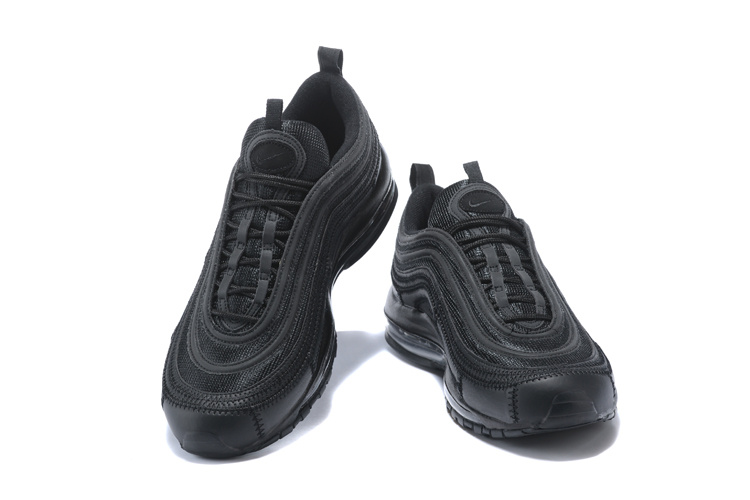 best choice 2018 sneakers top quality Nike Air Max 97 3M Triple Black Men's Running Shoes NIKE-ST000667