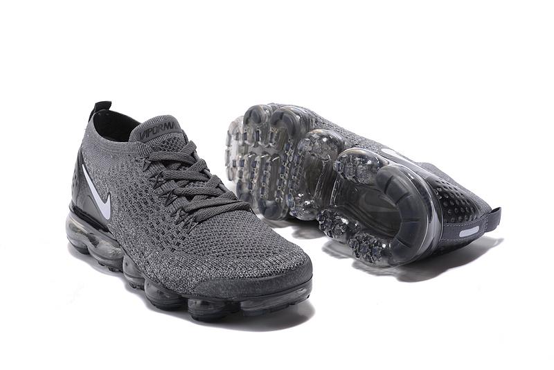 sports shoes 6c959 300f9 Nike Air VaporMax Flyknit 2 TPU Wolf Grey White Women's Men's Running Shoes  NIKE-ST000577