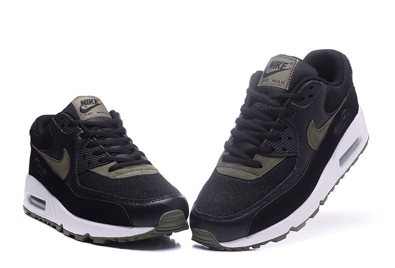 newest 93903 b62a3 Nike Air Max 90 Essential Black White Green Men's Women's Running Shoes  Sneakers NIKE-ST000215