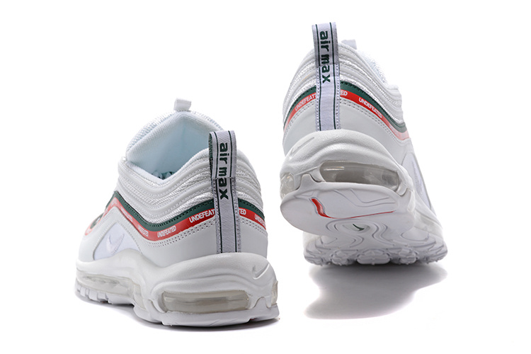cf0d92ef8f20 Undefeated x Nike Air Max 97 OG Sail White Red Green Women s Men s Running  Shoes