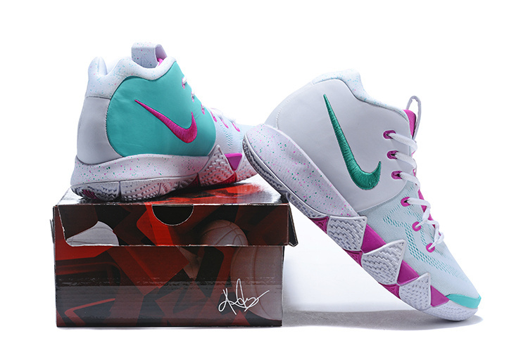 premium selection 94e3d 51bdb Nike Kyrie 4 White Plum Red Mint Green Men's Basketball Shoes NIKE-ST001573