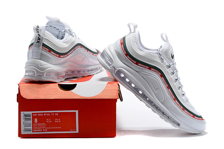 9663286a7d Nike Air Max 97 Ultra 17 Se Undefeated White Gorge Green Speed Red ...