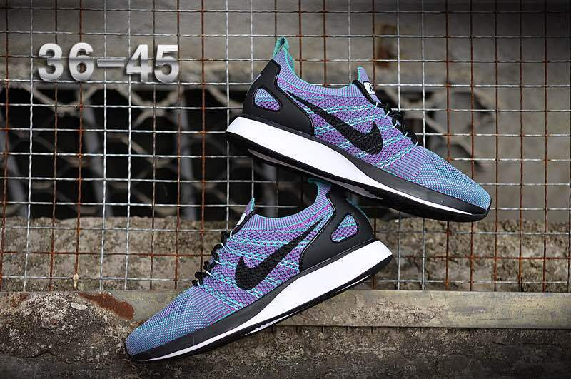 buy online d0d56 0b22f Nike Air Zoom Mariah Flyknit Racer Purple Multi-Color Black White Women s  Men s Running Shoes