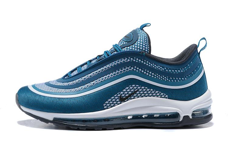 half off c1cef fda29 Nike Air Max 97 Ultra 17 Blue White Black Men's Running Shoes NIKE-ST000724