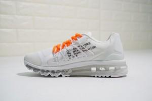 4bf07e24ed0c Nike Air Max 2015 white orange 698902-100 Mens Women s Running Shoes
