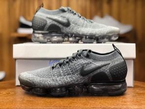 76a773fa36c9 Nike Air VaporMax Flyknit 2 Wolf Grey White Women s Men s Running Shoes