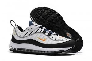 Supreme Nike Air Max 98 Black White Men's Running Shoes NIKE