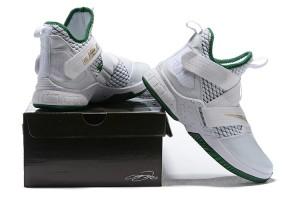 5f0db270b47 Nike LeBron Soldier 12 SVSM Home White Green AO2609 100 Men s Basketball  Shoes