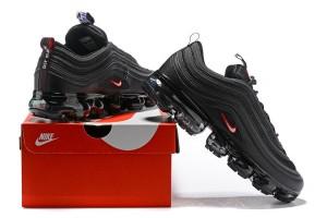 5bbd7b0e19 Nike Air VaporMax 97 Silver Bullet Black Red Women's Men's Running Shoes