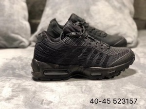 Nike Air Max 95 TT Black Purple Men's Casual Shoes NIKE