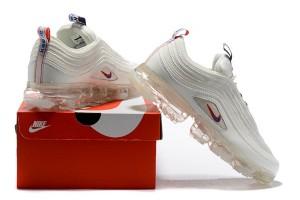 05c8826f341 Nike Air VaporMax 97 Silver Bullet Metallic Cashmere Women s Men s Running  Shoes