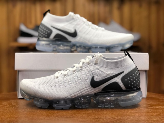 separation shoes 7df60 0c96e Nike Vapormax Flyknit 2. 0 Reverse Orca White Black 942842 103 Men's  Running Shoes 942842-103A