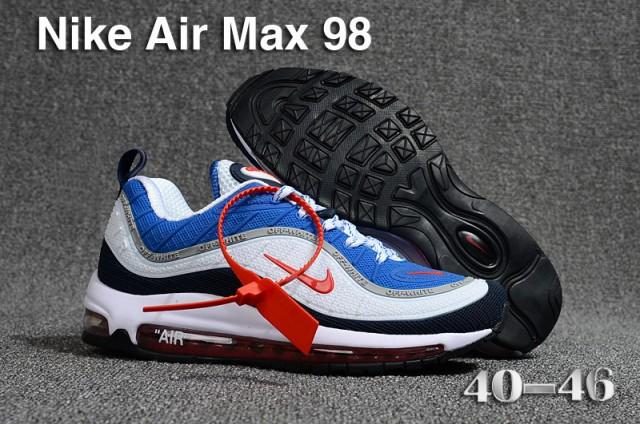 fc3b362533e3 Nike Air Max 98 QS KPU Royal Blue Comet Red Black White 640744 064 Men s  Running