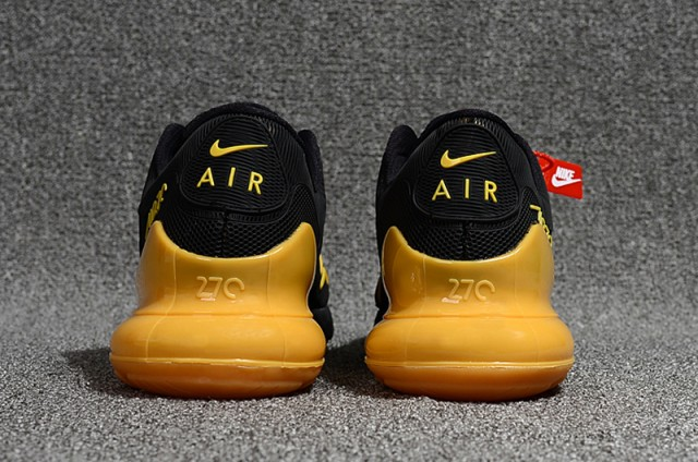 wholesale dealer 52552 63e6b Nike Air Max 270 Kpu Black Gold Men s Running Shoes