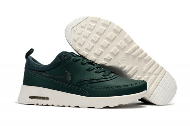 424ada0f5af Nike Air Max Thea Pinnacle Leather Medium Olive Black Summit White Women's  Men's Running Shoes Sneakers NIKE-ST002239