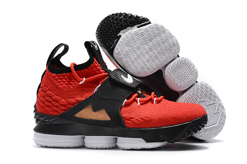 Nike Lebron 15 XV Red Black Gold Men s Basketball Shoes NIKE ... 6a4b5050a