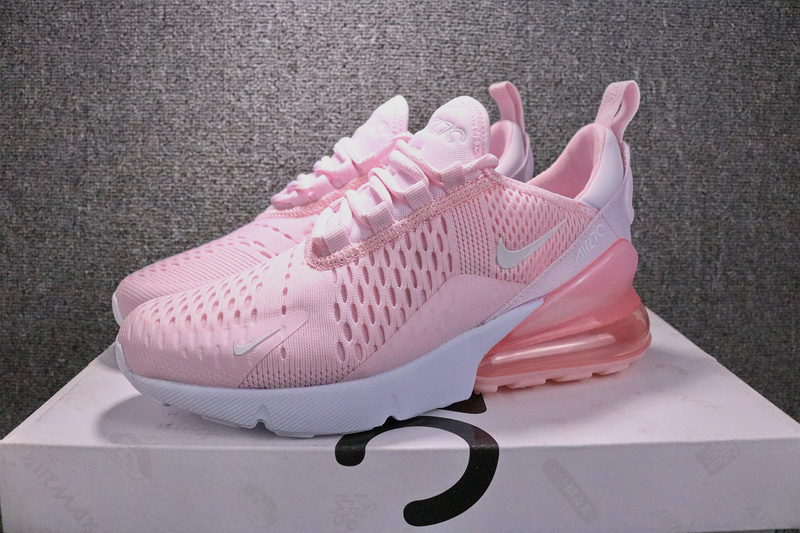 official photos 15d72 f36fc Nike Air Max 270 Flyknit Pink White AH8050 600 Women's Running Shoes  AH8050-600
