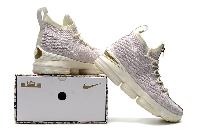 detailed look 00ce5 94e73 KITH Nike LeBron 15 Rose Pink Multi Color AJ3936 900 Men's Basketball Shoes  NIKE-ST002208