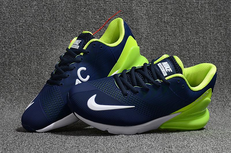 7dd626cd8087a Nike Air Max 270 Kpu Navy Blue Green White Men's Running Shoes NIKE ...