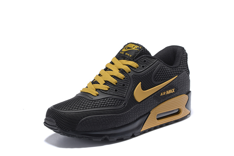 new products 28939 a0e0b ... where to buy nike air max 90 kpu black gold mens running shoes sneakers  77bc5 912a8