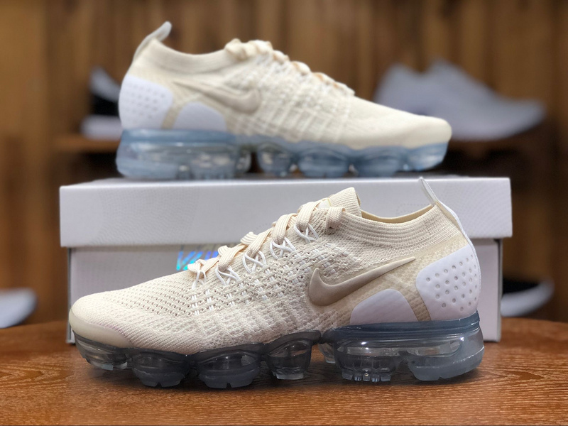 more photos 9ba8b b6091 Nike Vapormax Flyknit 2. 0 Light Cream White Metallic Gold Star 942843 201  Women's Running Shoes 942843--201