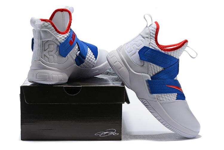 f36907e22de2 Nike LeBron Soldier 12 Royal Blue Red White Men s Basketball Shoes ...