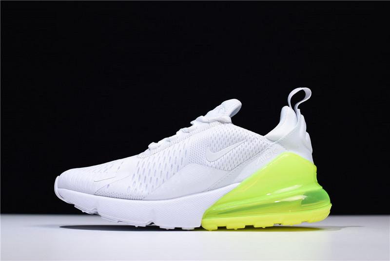 uk availability c1f6b 7b0f5 Nike Air Max 270 Flyknit Green White AH8050-104 Men's Running Shoes  AH8050-104
