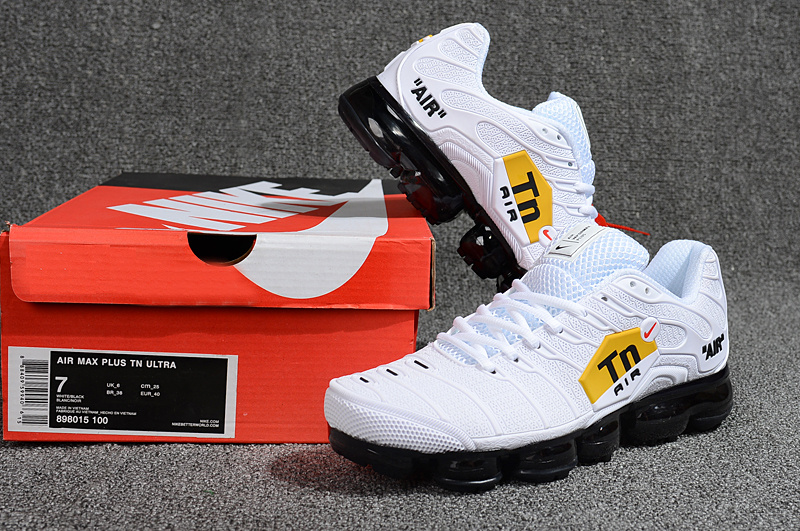 official photos 32db7 b0cb8 Nike Air Max Plus Tn Ultra Triple White Black Red Yellow 898015 100 Men's  Running Shoes 898015-100A