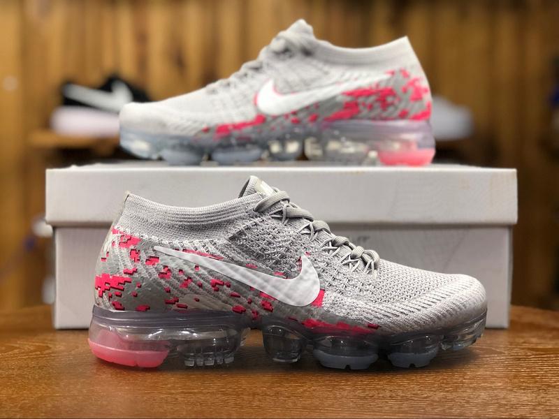 384790c00e7 Nike W Air Vapormax Flyknit Graffiti Grey Pink White 883274 400 ...