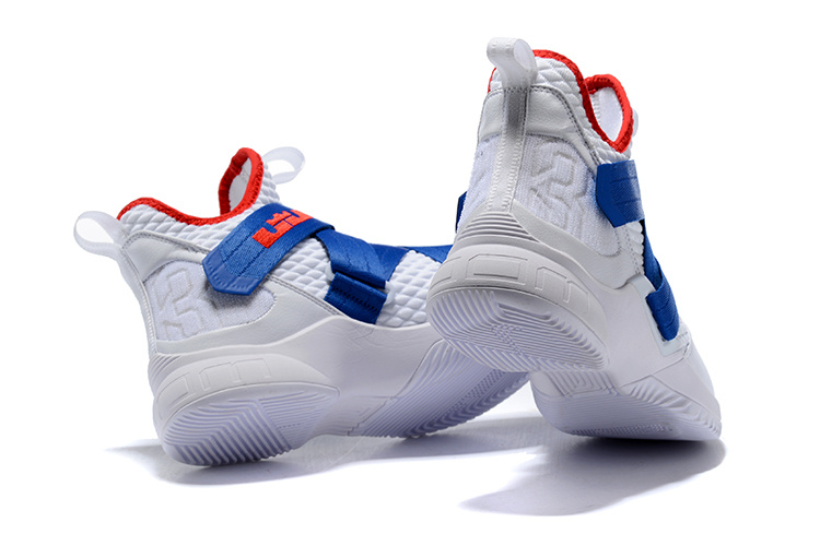 best sneakers 07d0a 06762 Nike LeBron Soldier 12 Royal Blue Red White Men's Basketball Shoes  NIKE-ST002483