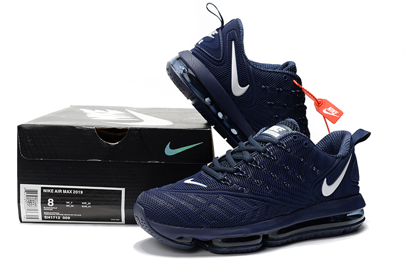 new arrival 9fd4d 2959e ... ebay nike air vapormax 2019 kpu navy blue white mens 635a3 bc329