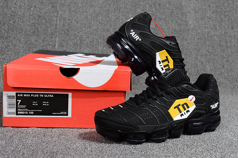 72a5625a588a31 Nike Air Max Plus Tn Ultra Triple Black Red Yellow White 898015 100 Men s  Running Shoes 898015-100