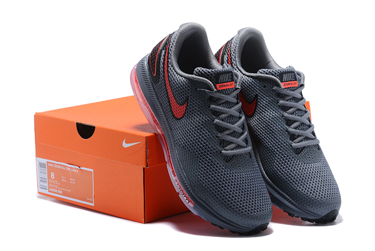 bf83da0b8207 Nike Zoom All Out Low 2 Wolf Grey Red AJ0035 006 Men s Running Shoes ...