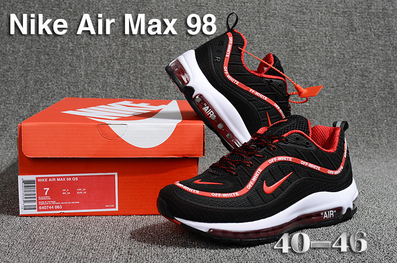 9a8953a13fbd Nike Air Max 98 QS KPU Black Red White 640744 063 Men s Running ...