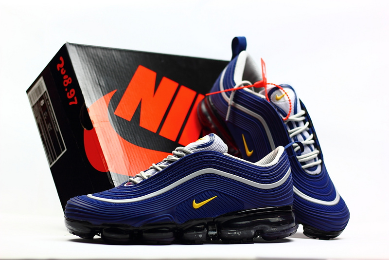 sports shoes 1b242 845df Nike Air Max 97 2018 KPU Navy Blue Yellow White Men's Running Shoes  NIKE-ST002298