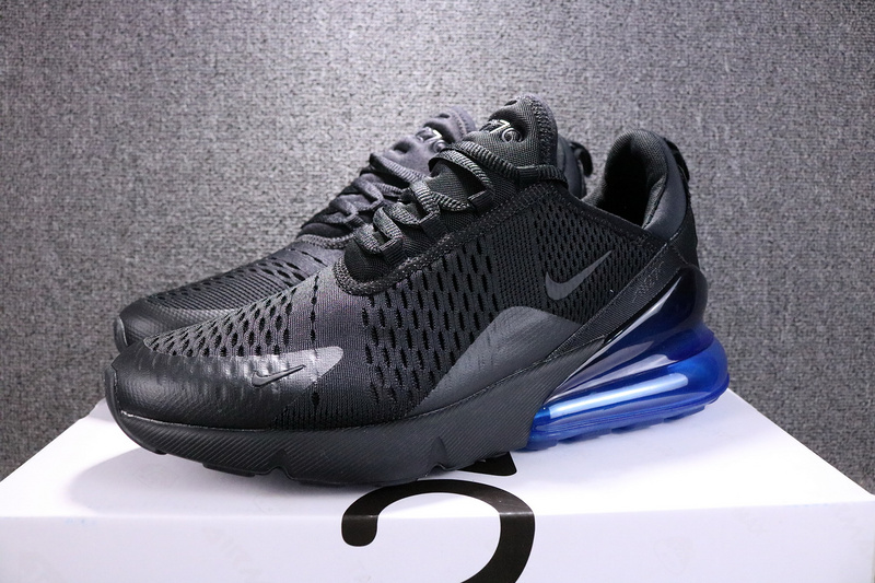 Nike Air Max 270 Flyknit Black Photo Blue AH8050 009 Women s Men s ... 11acaed96