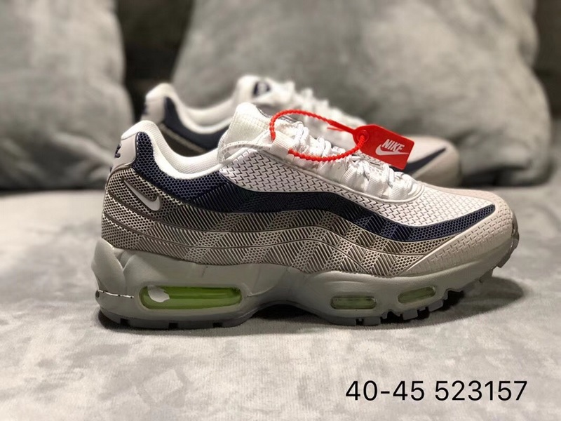 a0777e006a Nike Air Max 95 KPU Wolf Grey White Blue Men's Running Shoes NIKE-ST002413  | WithTheSale.com