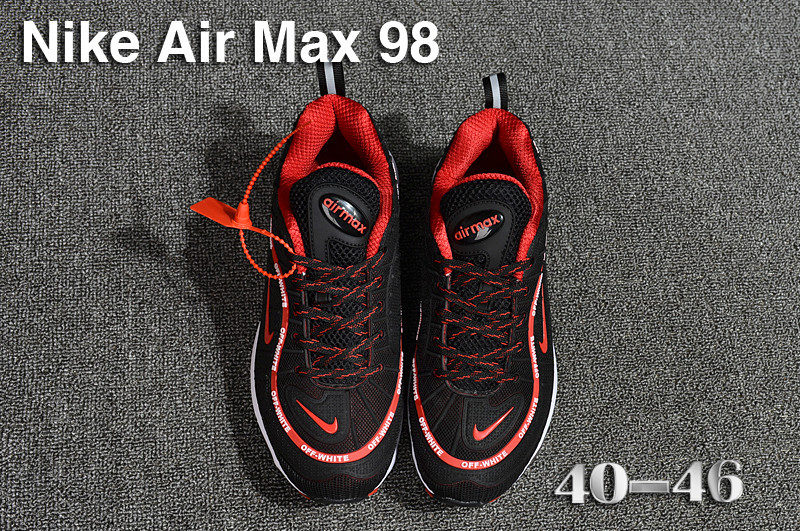 separation shoes 57ef6 995e8 Nike Air Max 98 QS KPU Black Red White 640744 063 Men's Running Shoes  640744-063