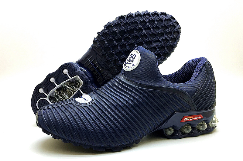 e01ff51b1a19 ... Nike Shox Running Shoes›. Nke Air Max Plus v 50 Cent Shox KPU Navy Blue  Men s ...