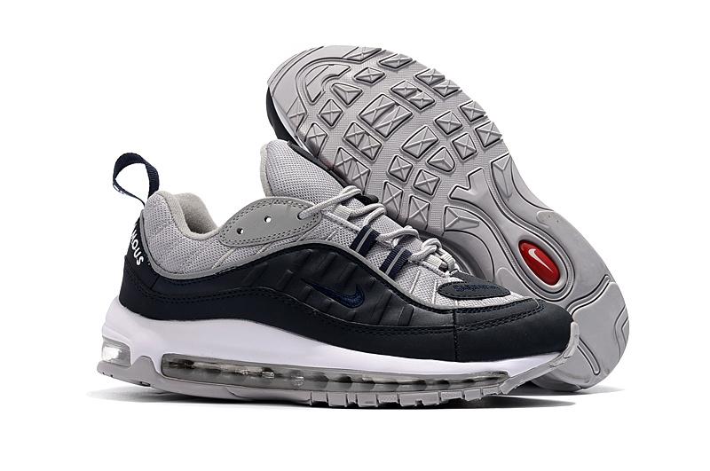 Nike Air Max 98 Grey Black White Men's Running Shoes NIKE ST002307