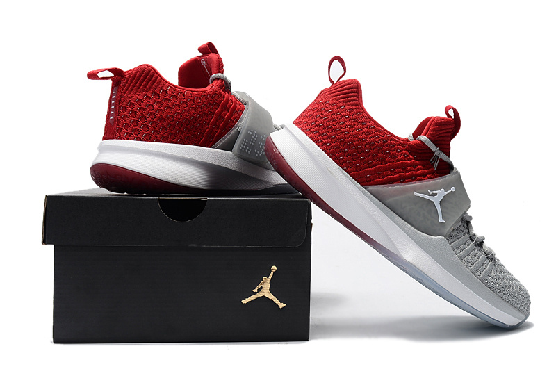the best attitude a5b55 2c520 Air Jordan Trainer 2 Flyknit Cool Grey Red Men's Basketball Shoes  NIKE-ST002199
