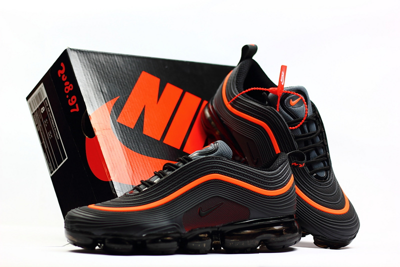 quality design b8fe2 3aa90 Nike Air Max 97 2018 KPU Anthracite Grey Orange Men's Running Shoes  NIKE-ST002297