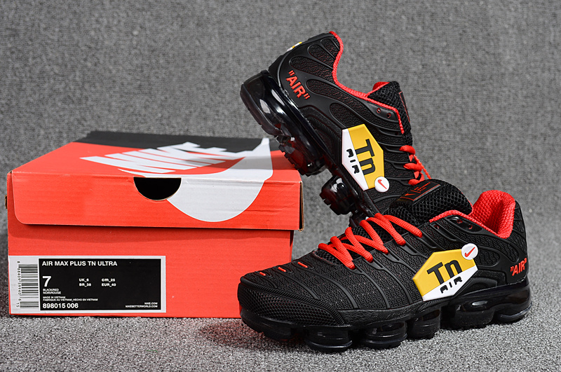 finest selection 8fccc 10cbf Nike Air Max Plus Tn Ultra Black Red Yellow 898015 006 Men's Running Shoes  898015-006