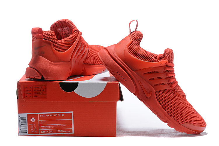 chaussures de séparation bba6e a3dc3 Nike Air Presto Solar Red October Red Men's Women's Running Shoes 305919-016