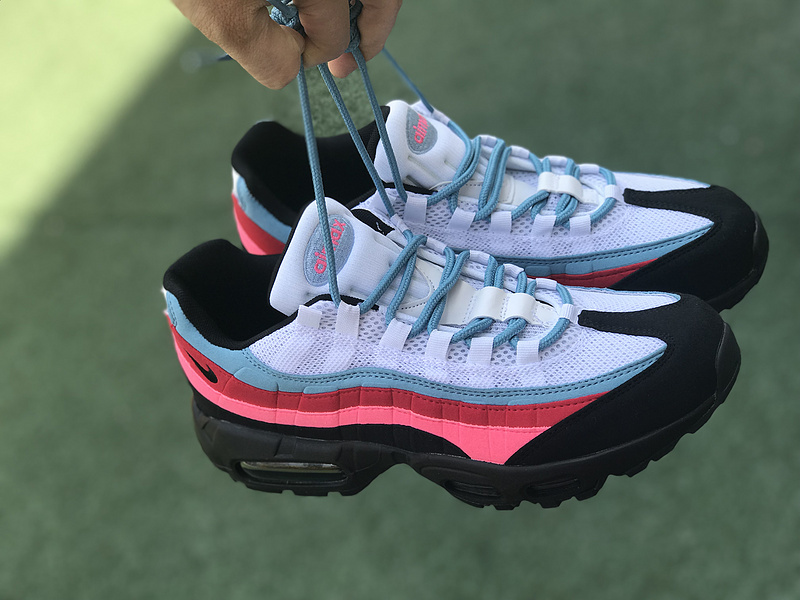 new concept c82a4 cedc9 Romantic Nike Air Max 95 OG QS Red Blue Whtie Black 918359 008 Women's  Men's Running Shoes 918359-008