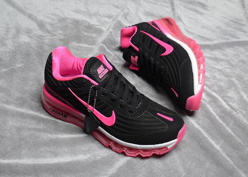 buy popular 1e921 3f46c Nike Air Max 2017 Kpu Black Pink White Women s Running Shoes