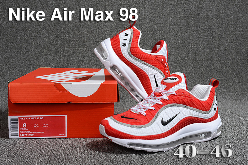 d120236c0b7f Nike Air Max 98 QS KPU White Red Black Grey 640744 069 Men s Running ...