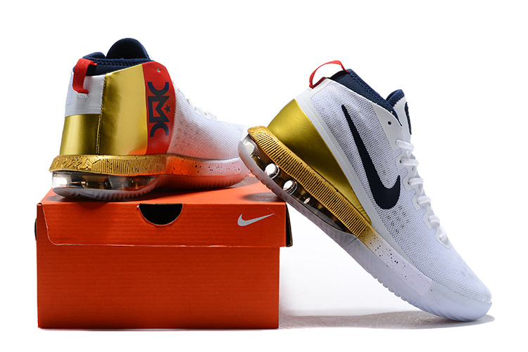 save off 94263 398ba Nike Air Max Dominate EP White Metal Gold Men's Basketball Shoes  NIKE-ST002184