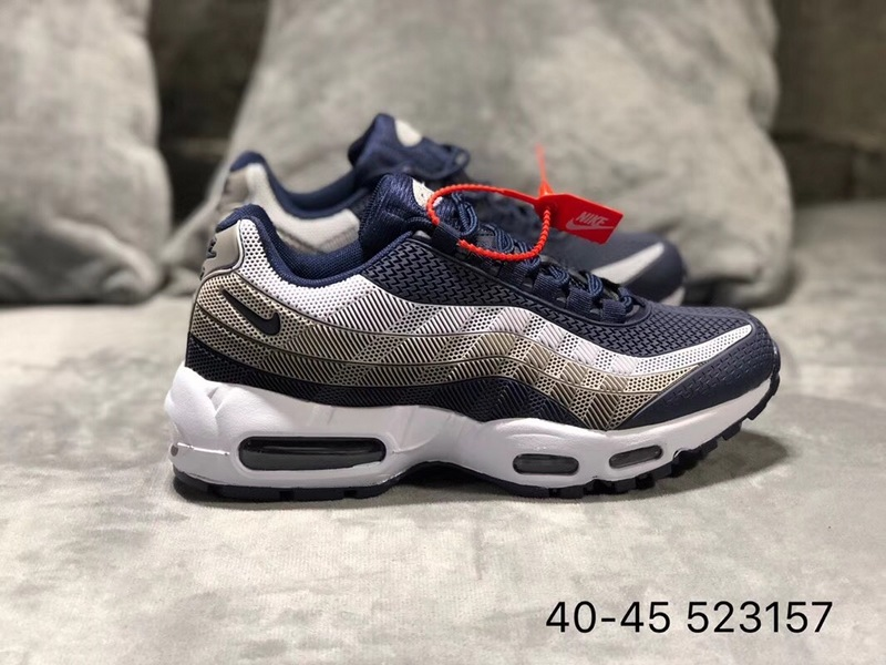 timeless design d810f 02dcc Nike Air Max 95 KPU Navy Blue Wolf Grey White Men s Running Shoes NIKE-ST002417    WithTheSale.com