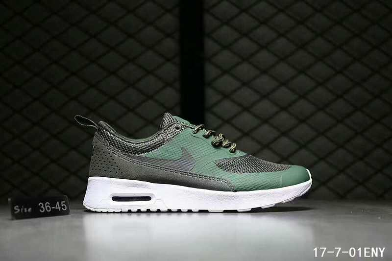 brand new 42405 43cbf Nike Air Max Thea SE Olive Green Black White Womens Mens Running Shoes  Sneakers
